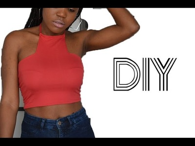 DIY. Kylie Jenner Inspired Halter Top (Easy Sewing)