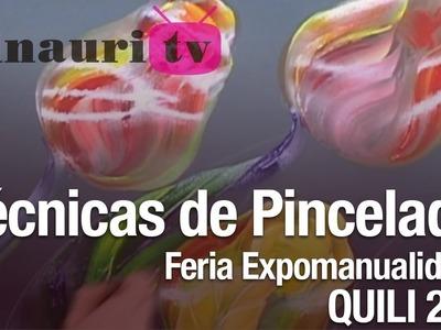 DIY - Pincelada. One stroke painting by Luz Angela