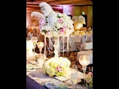 DIY Tall wedding centerpieces decoratig ideas