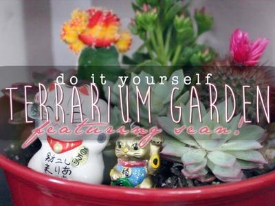 DIY Terrarium Garden ft. Sean! | littleteafox