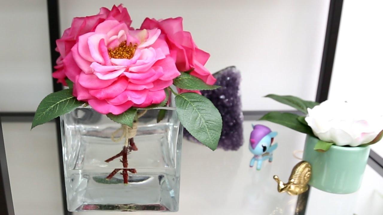 Faux Flower Arrangement ♥ DIY