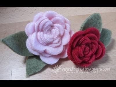 Felt Spiral Flower www.frenchiestamps.com