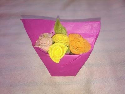 Flower Basket - Origami Paper Crafts for Kids
