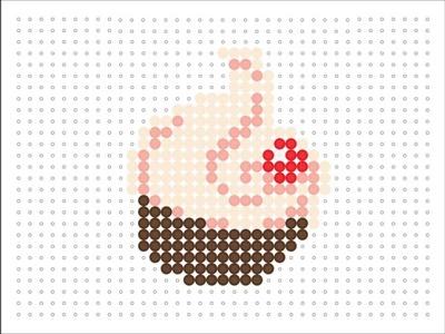 Hama Bead Swirl Cupcake (Food Series 2 #1)