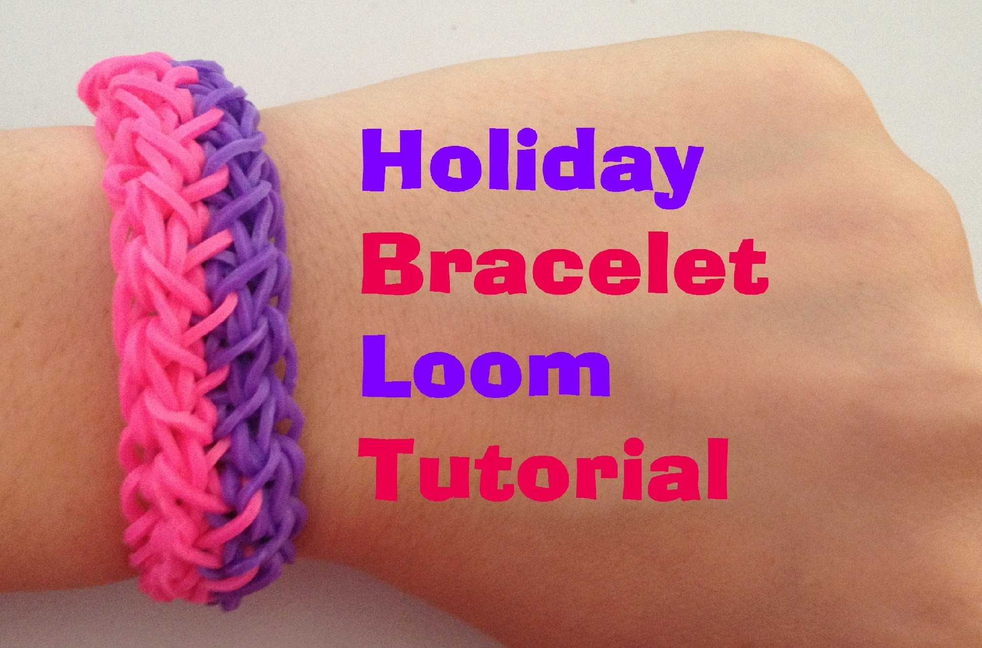 HOLIDAY Loom bracelet Tutorial Rainbow Loom l JasmineStarler