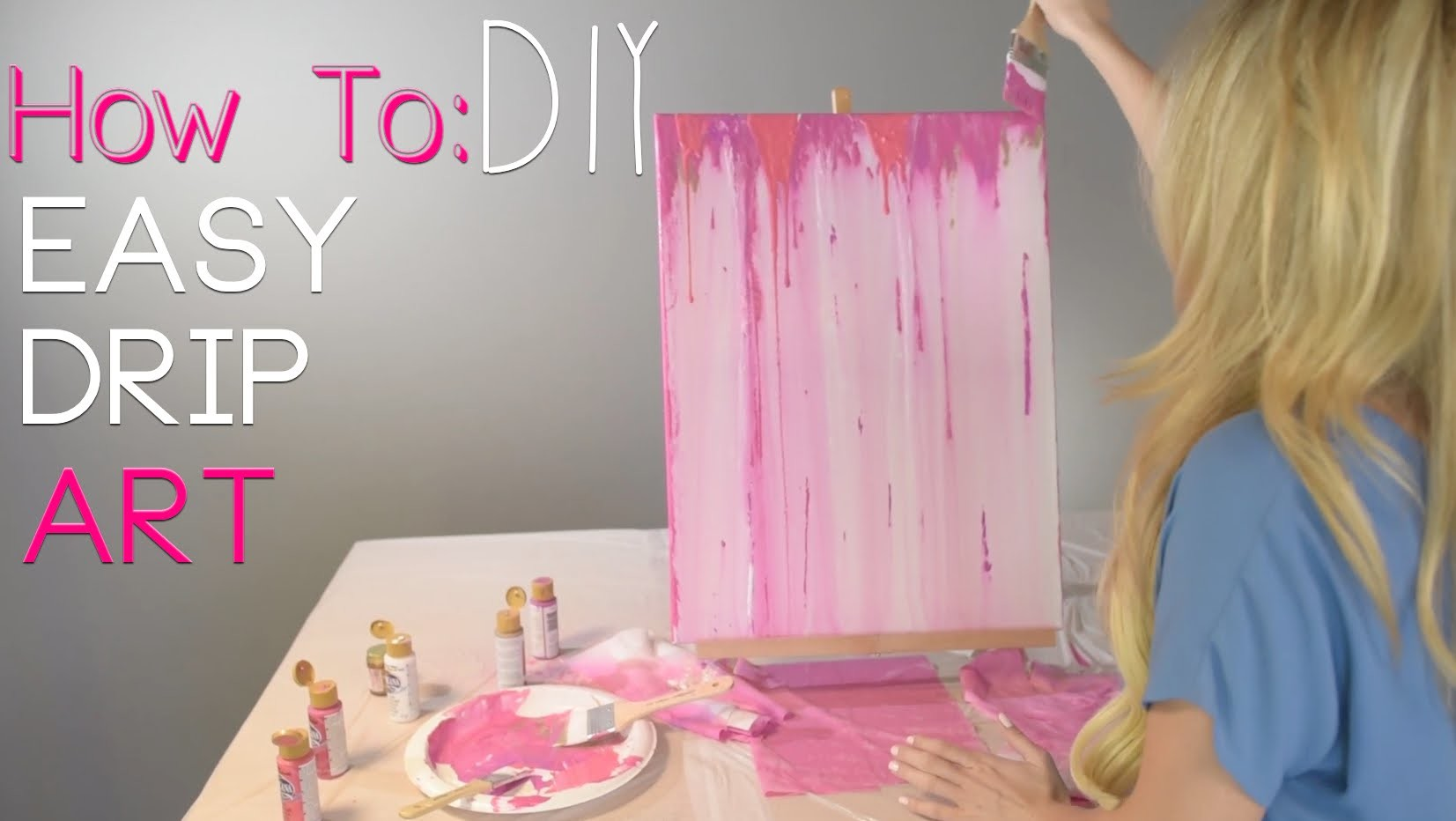 HOW TO: Acrylic Drip Painting DIY