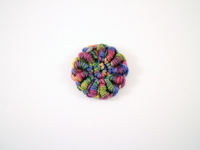 How to Crochet a Flower: Bullion Stitch Flower Left Hand
