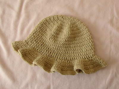 How to crochet a simple women's sun hat - summer hat for beginners