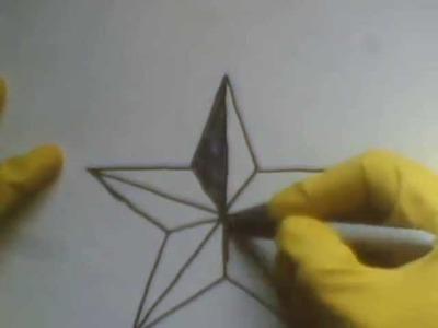 How To Draw A Star step by tutorial como dibujar una estrella de puntas picos en 3d paso a paso