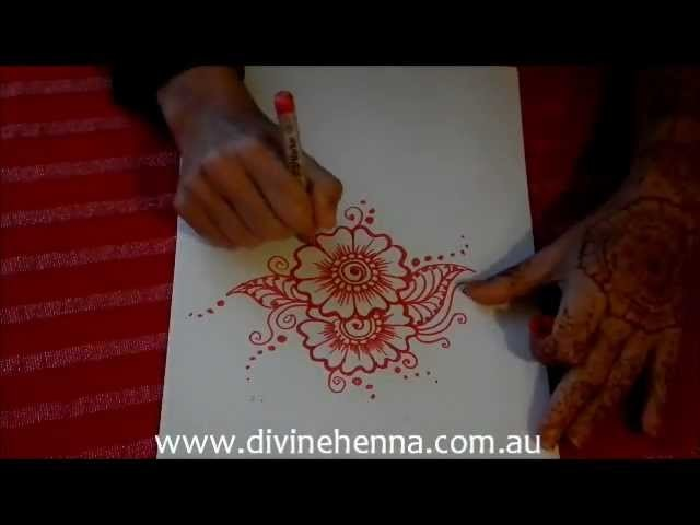 How to Draw Henna Flower - Arab fusion 1