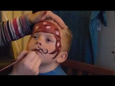 How to Face Paint a Pirate Tutorial | Boys Quick Face Painting Designs | Little Party Heaven