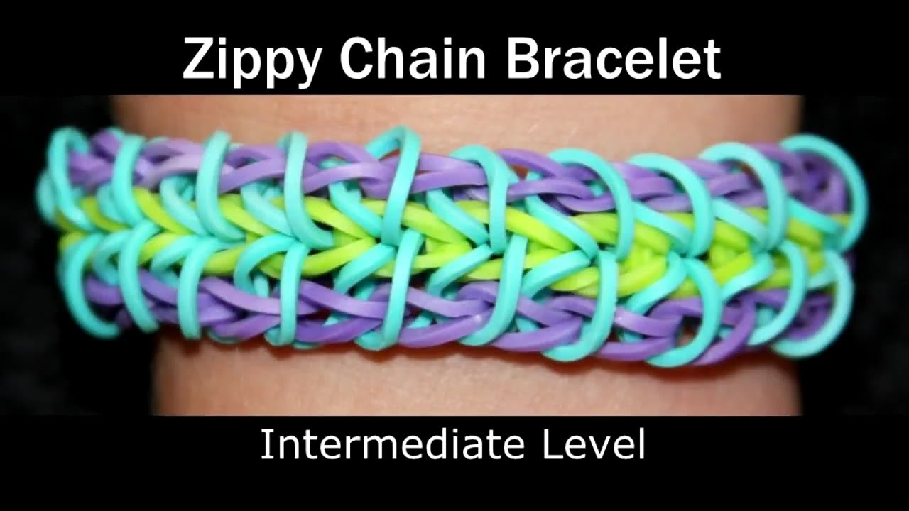 How to make a Rubber Band Zippy Chain Bracelet - Medium Level