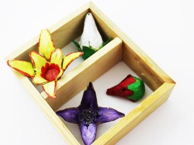 How to make egg carton flowers