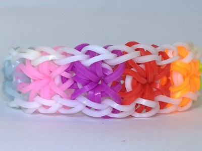 How to Make Rainbow Loom Starburst Bracelet On Loom-DIY
