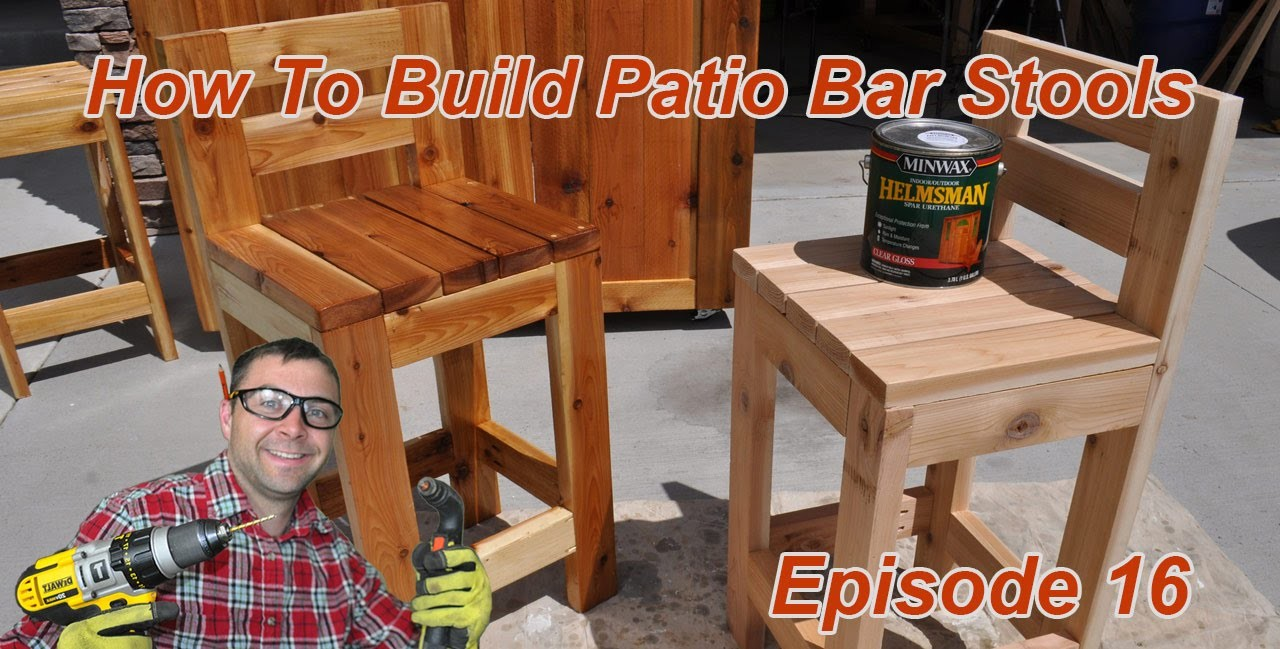 How to make simple bar stools my crafts and diy projects for How to build a simple bar