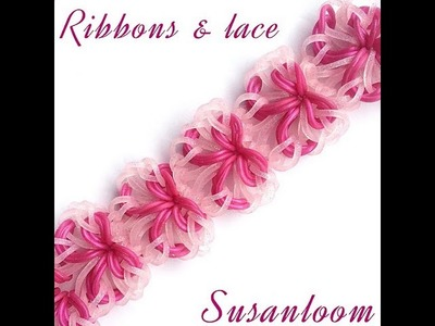 How to make the ribbons & lace hook only bracelet (original design) rainbowloom