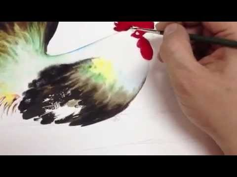 How to paint chicken in Watercolor Part2