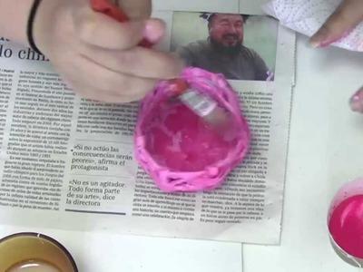 Idea para regalo de comunión: Cestita de caramelos