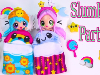 Kawaii Crush Sleep Over Day and Night BFF Slumber Party Doll Playset Pack Cute Stars Rainbows