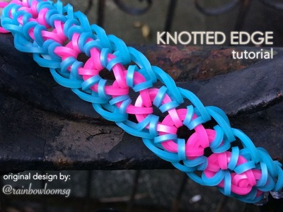 KNOTTED EDGE Hook Only bracelet tutorial