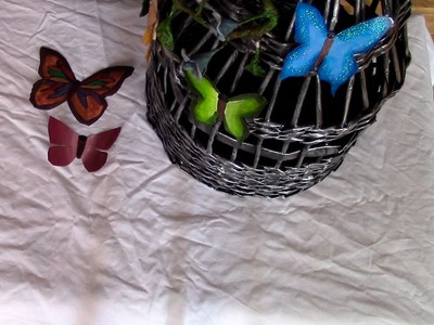 MARIPOSA DE BOTELLAS PLASTICAS - PLASTIC BOTTLE BUTERFLIES