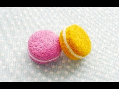 Needle Felted Macaron (ASMR sounds)