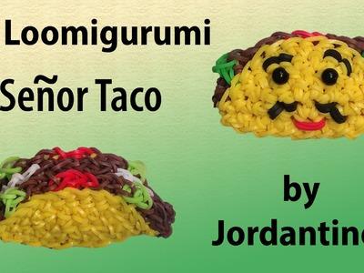 New 3D Loomigurumi. Amigurumi Señor Taco - Rubber Band Crochet - Rainbow Loom - Hook Only