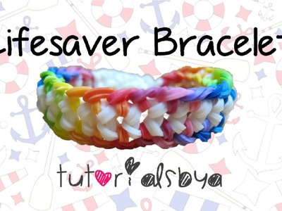 NEW Lifesaver Rainbow Loom Bracelet Tutorial