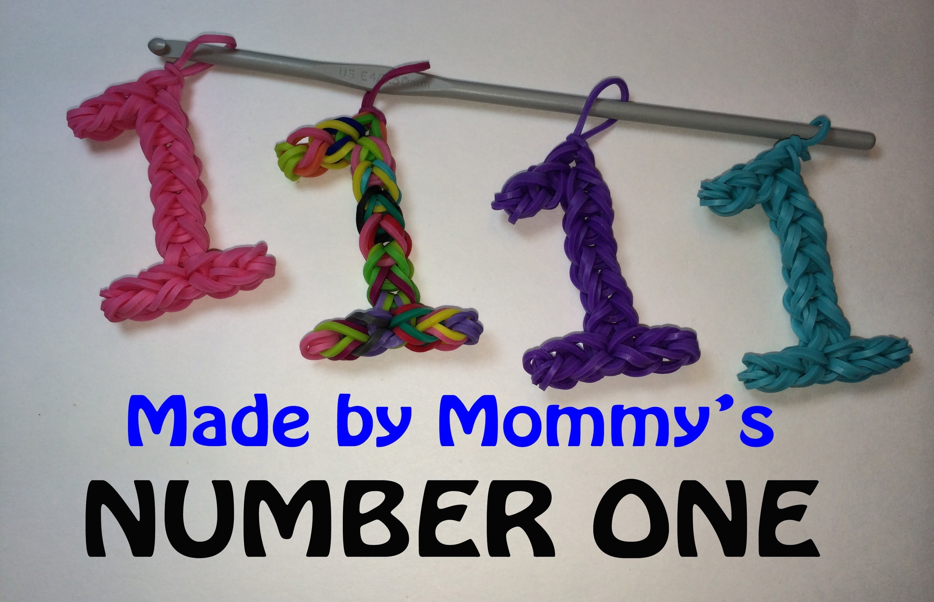 Number One #1 Charm without the Rainbow Loom