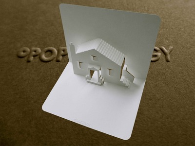 Pop Up House Card #1 Tutorial - Origamic Architecture