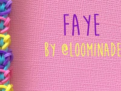 Rainbow Loom Bands Faye by @Loominade tutorial