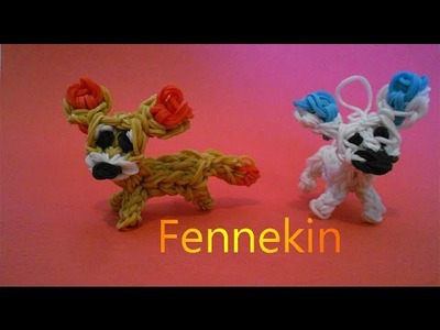 Rainbow loom Charms: Fennekin Pokemon