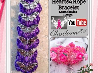 Rainbow Loom Hearts for Hope Bracelet