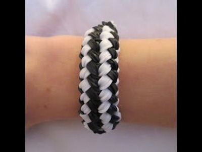 Rainbow Loom- How to Make a Charming Checkerboard Bracelet (A Variation of the Double Braid)