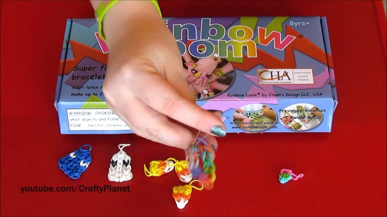 Rainbow Loom Rubber Band Bracelet Charms I Made - Rainbow Loom Bracelets, Rings, and More