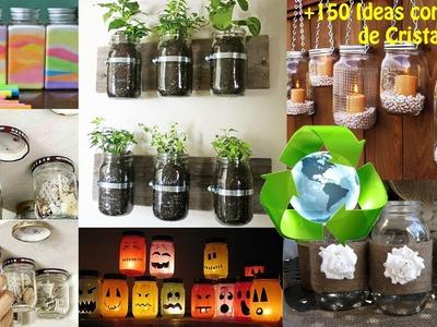 Reciclaje de Botes Cristal +150 Ideas. Ideas Recycling Glass Bottles boats