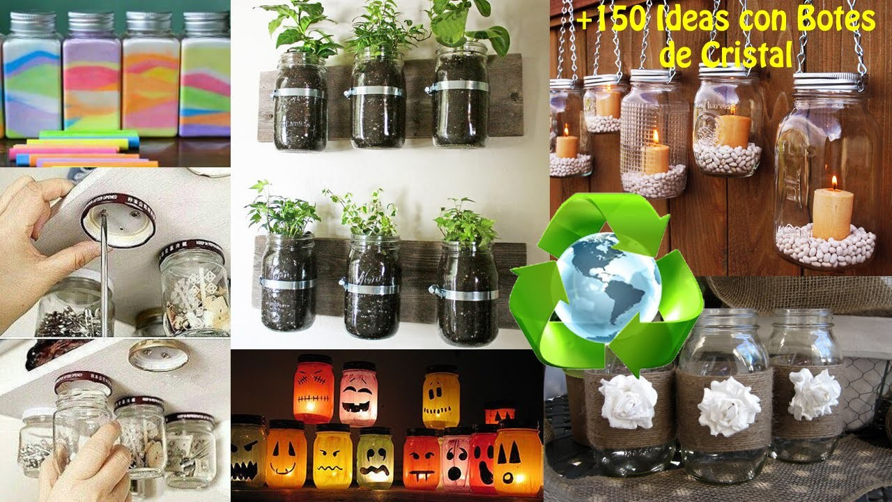 Reciclaje de Botes Cristal +150 Ideas. Ideas Recycling Glass Bottles boats