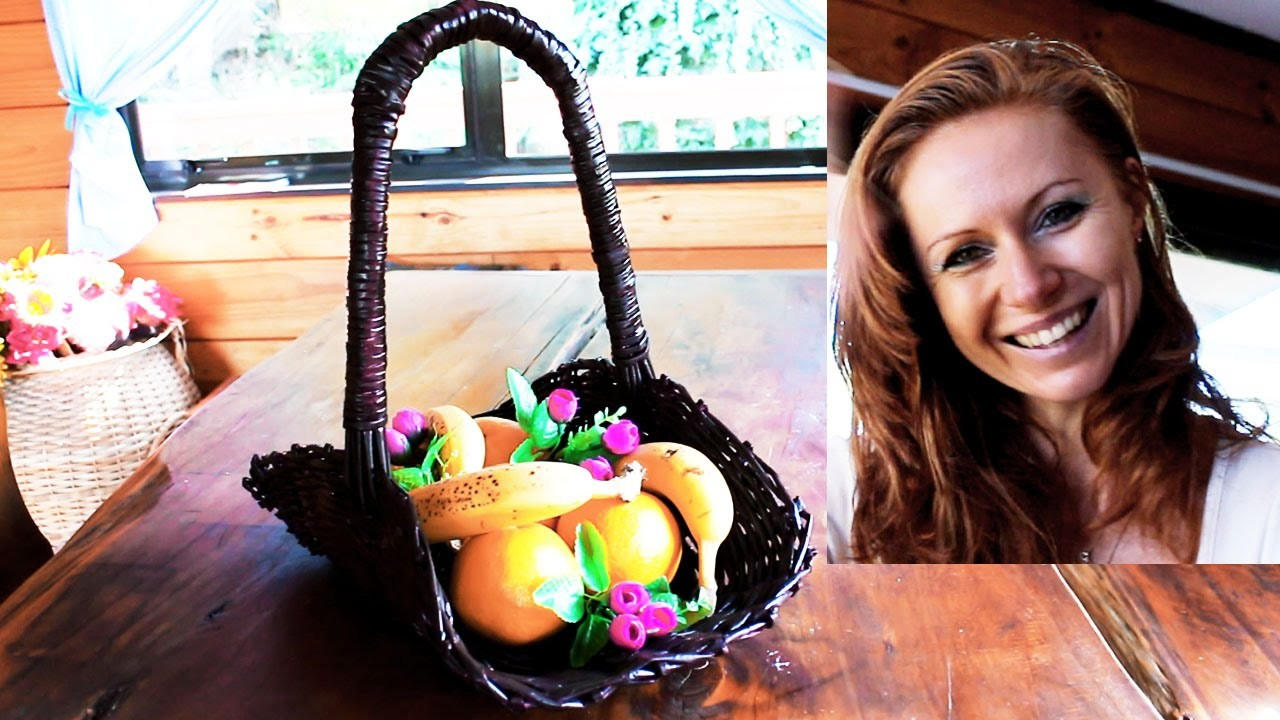 Recycling - How to make easy basket without weaving shape
