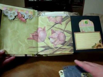"""Scrapbooking """"Spring paperbag mini album"""""""