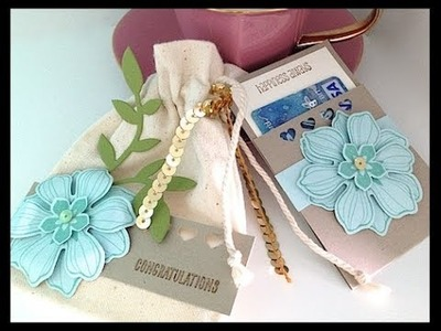 STAMPIN' GALS GONE WILD - Mini Muslin Gift Card Gift Bag