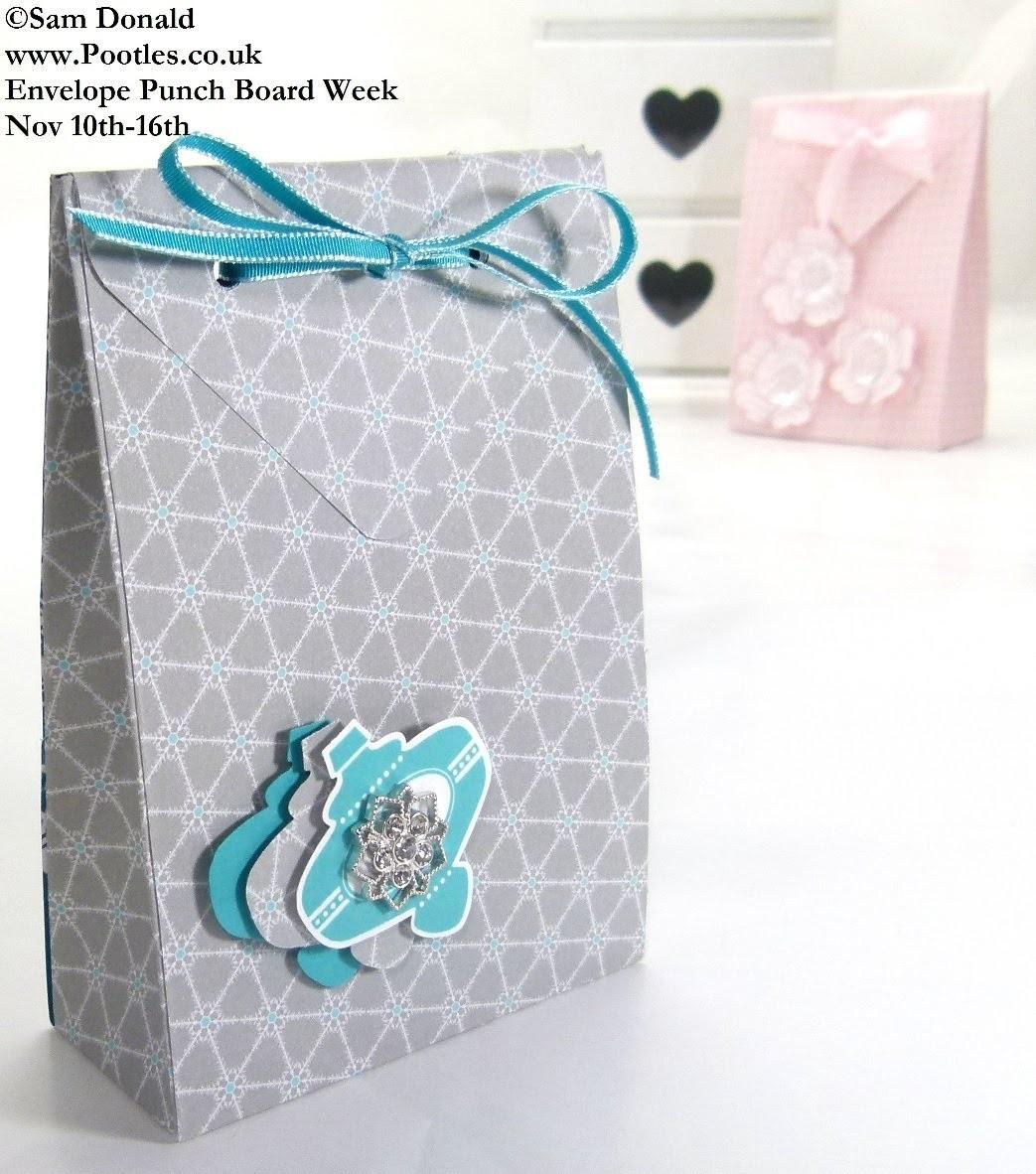 Stampin Up UK ENVELOPE PUNCH BOARD Folded Gift Bag