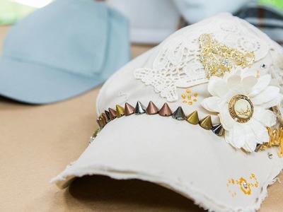 Tanya Memme's DIY Blinged out Baseball Hats