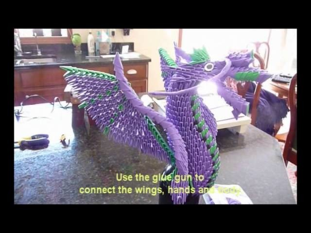 This is My Secret Way to Create a 3D Origami Dragon(American Dragon)