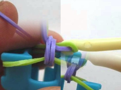 Tutorial como fazer pulseira de elastico fishtail rainbow com mini loom