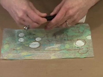 Working With Dina Wakley's Fine Tip Applicator & Metalllic Paint by Joggles.com