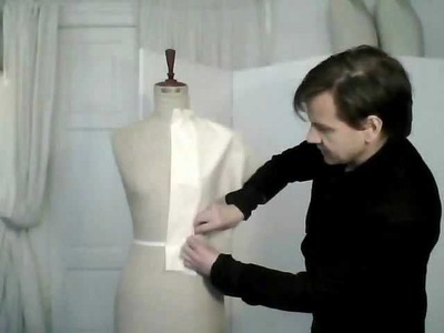 1. How to drape a basic pattern, ladies' front - by bespoke tailor Sten Martin