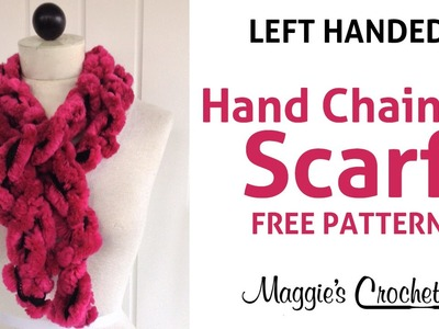 3 Minute Starbella Artic Hand Chained Ruffled Scarf - Left Handed
