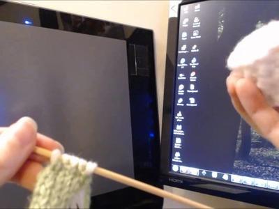 Basic Knitting Projects - Knitted Sushi (Part 1, Knitting The Sushi)