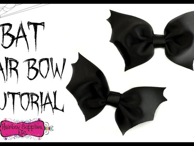 Bat Hair Bow Tutorial - Halloween Hair Bow - Hairbow Supplies, Etc.