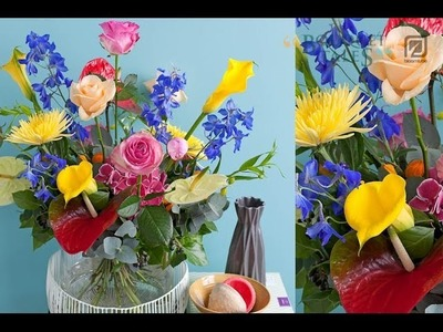Bloomtube Bouquet Tales Mixed Floral Inspiration How to make DIY